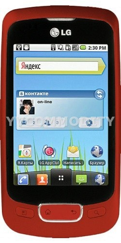 LG Р500 Android 2.2 Red